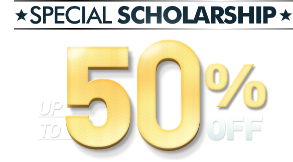 SPECIAL SCHOLARSHIP UP TO 80% OFF