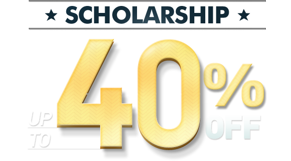 SCHOLARSHIP UP TO 40% OFF